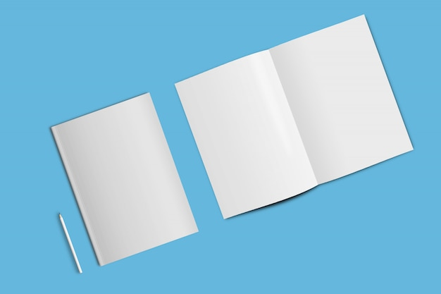 Cover und open page mock-up template a4 größe