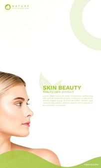 Cover-vorlage mit beauty-konzept