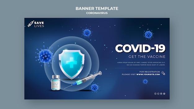 Covid 19 banner vorlage