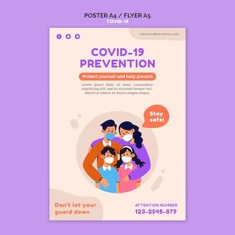 Covid 19 flyer vorlage