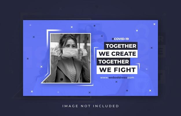 Covid-19 web-banner-vorlage
