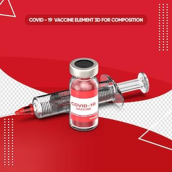 Covid impfstoff rendern in 3d-rendering