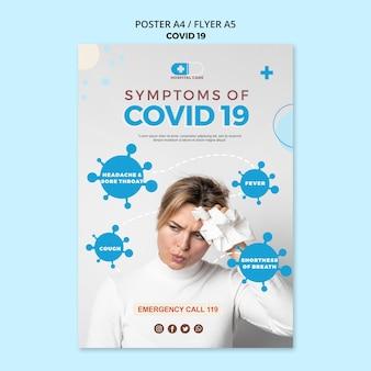 Covid19 poster konzeptvorlage