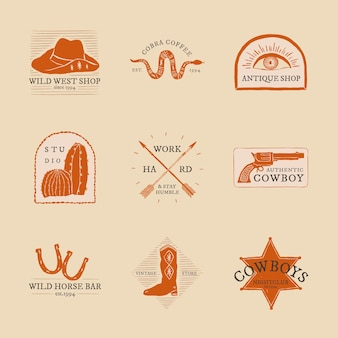 Cowboy-logo-psd-sammlung