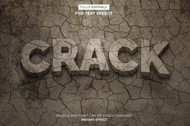 Crack-text-effekt