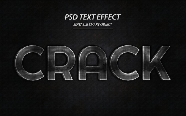 Crack-texteffekt-entwurfsvorlage