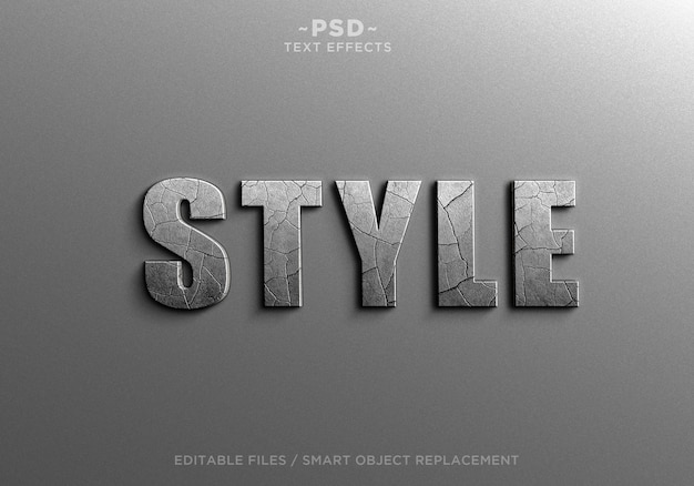 Cracked style effects bearbeitbarer text Premium PSD