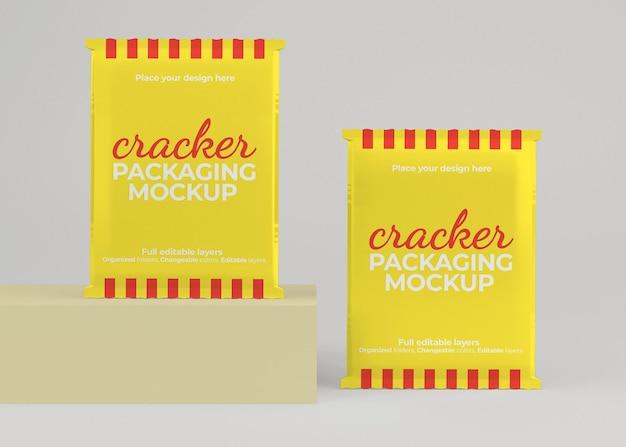 Cracker- oder snackbeutel-verpackungsmodell