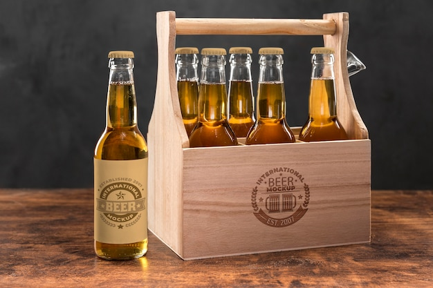 Craft beer arrangement konzept modell