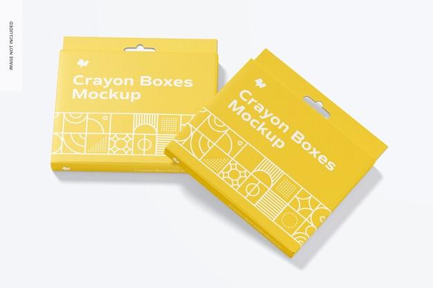 Crayon boxes mockup