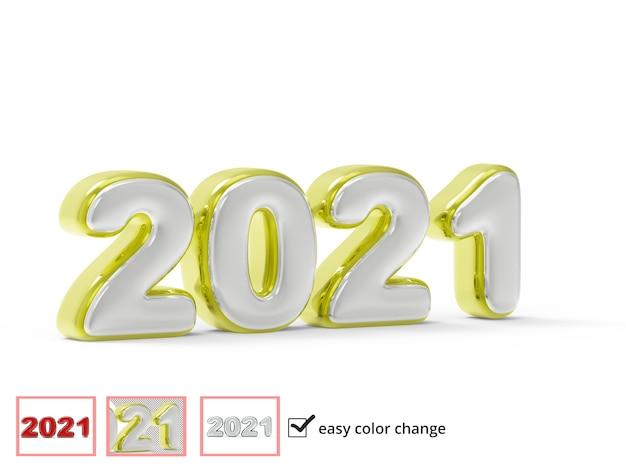 Creative 2021 label in 3d-rendering