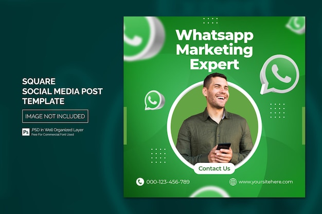 Creative agency social media post oder square web advertising banner vorlage