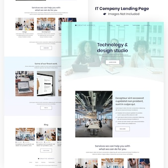 Creative agency website und apps development landing page
