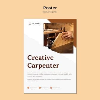 Creative carpenter social media geschichten vorlage