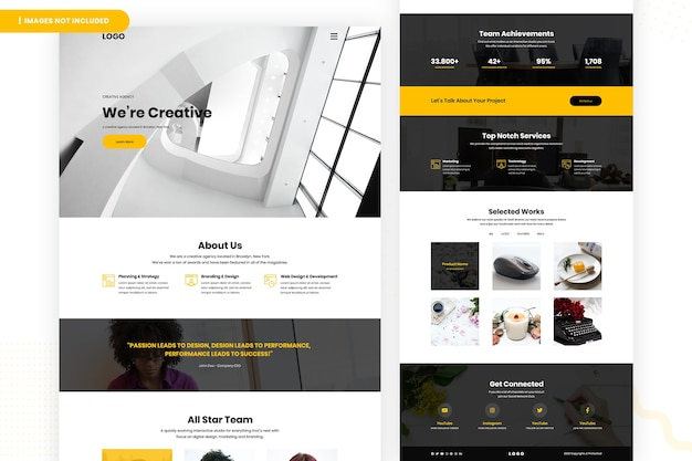 Creative designer website-seitengestaltung