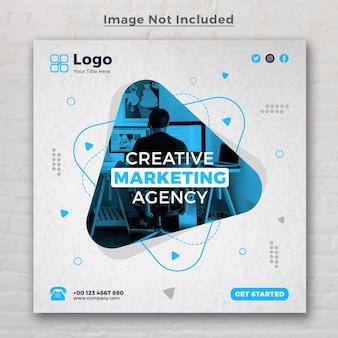 Creative digital marketing agentur social media banner vorlage