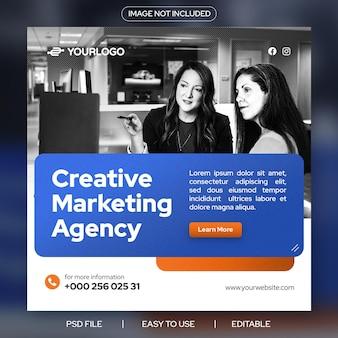 Creative-marketing-agentur social-media-instagram-werbebanner-vorlage