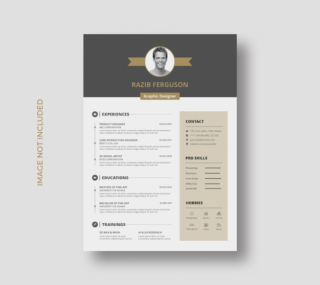 Creative resume cv template design