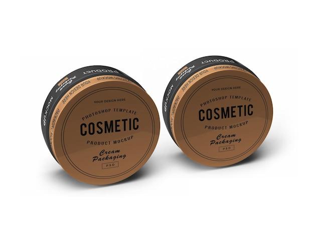 Creme kosmetikglas 3d mockup