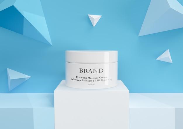 Cremefarbenes hautpflegeprodukt in eleganter verpackung.
