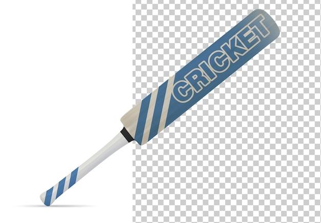 Cricketschläger isoliert modell