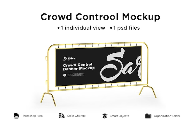 Crowd control mockup
