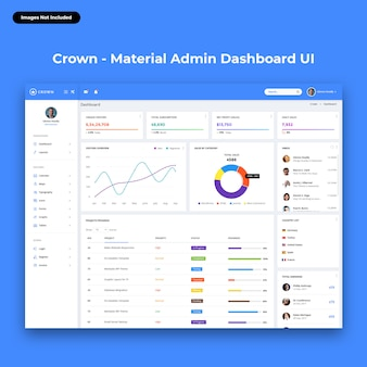 Crown-material admin dashboard