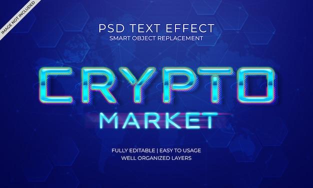 Crypto market text effekt