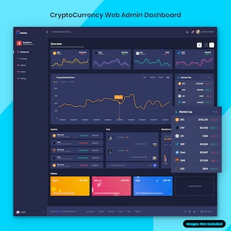 Cryptocurrency web admin dashboard-benutzeroberfläche