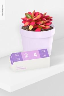 Cube infinite calendar mit pot mockup