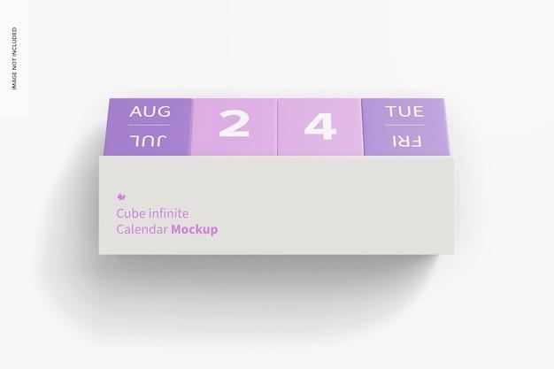 Cube infinite calendar mockup, draufsicht