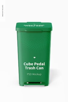Cube pedal mülleimer mockup