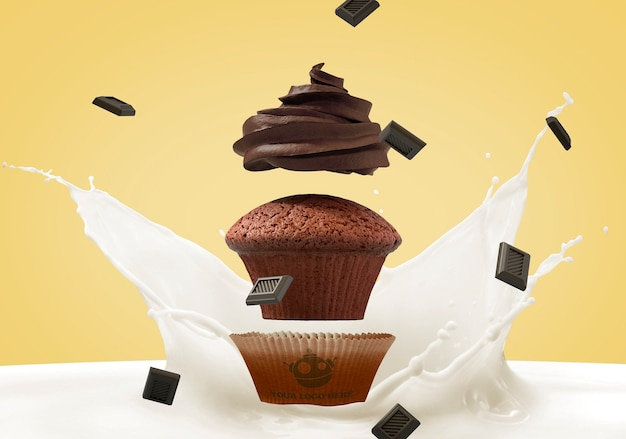 Cupcake-branding-modell