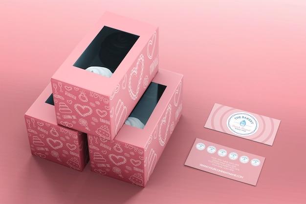 Cupcake-verpackung und branding-modell