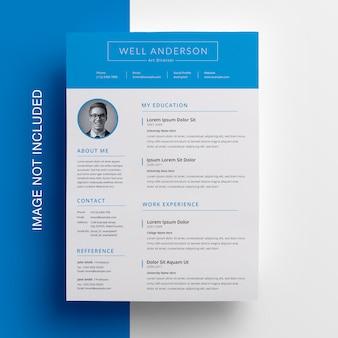 Cyan resume design mit tpobar