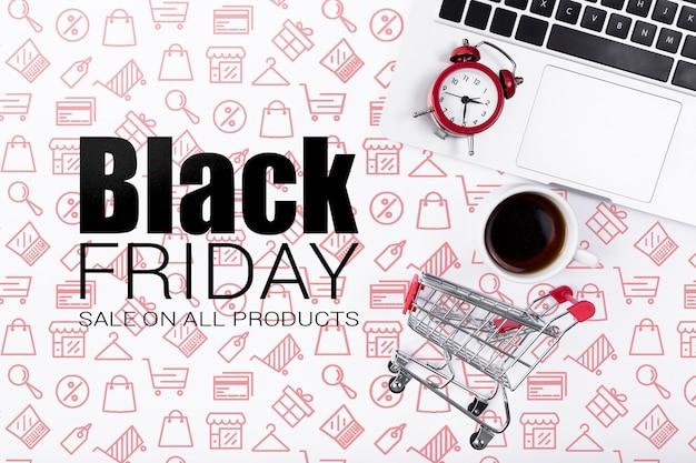 Cyber-kampagne für den schwarzen freitag