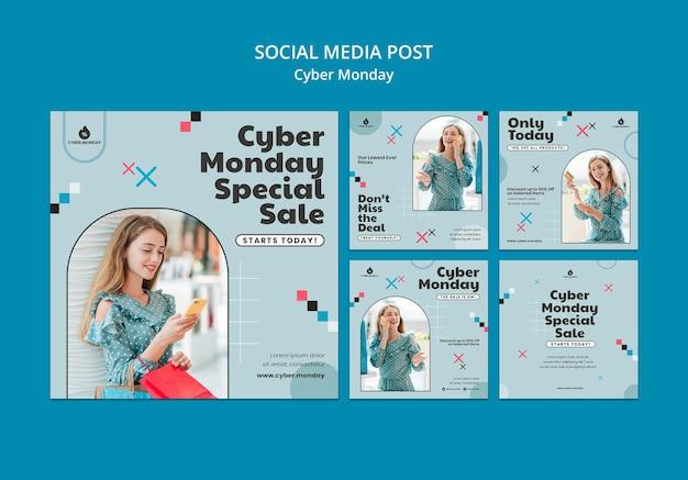 Cyber monday instagram posts sammlung