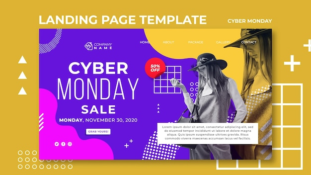 Cyber montag landing page vorlage