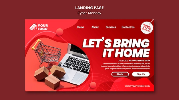 Cyber montag landing page