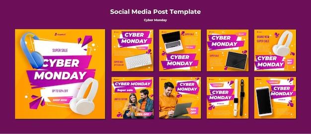 Cyber montag social media post vorlage