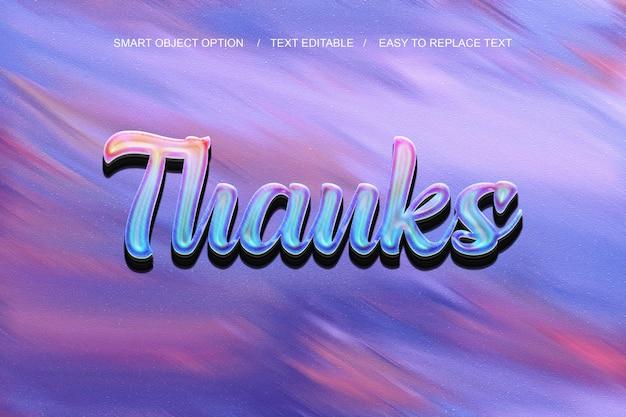 Dank 3d-text-effekt