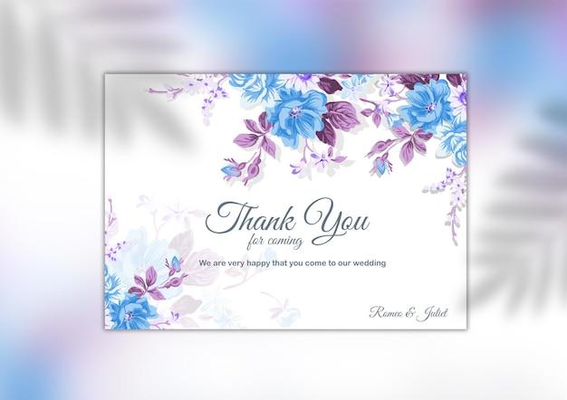 Dankeschön-hochzeitskartenvorlage