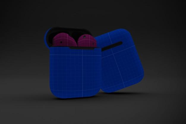 Dark earphone case modell