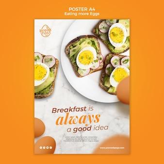 Das frühstück ist immer eine gute plakatvorlage