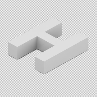 Das isometrische getrennte alphabet 3d übertragen