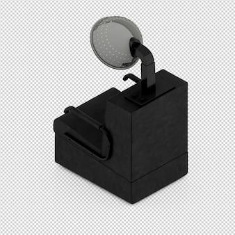Das isometrische lokalisierte schönheitszubehör 3d übertragen