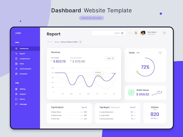 Dashboard-website-vorlage