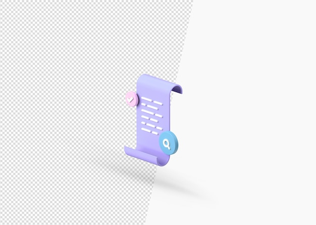 Dateidokumentkonzept mit 3d-rendering