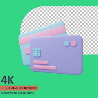 Debitkarte 3d-traveler-symbol abbildung hochwertiges rendern
