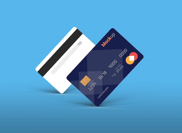 Debitkarte, kreditkarte, smart card mockup template